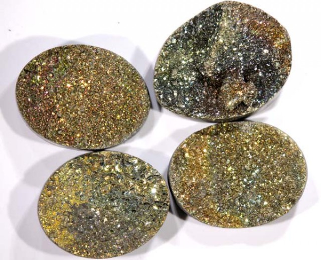 NATURAL DRUSY STONE (4PC SET) 31.50 CTS PG-748
