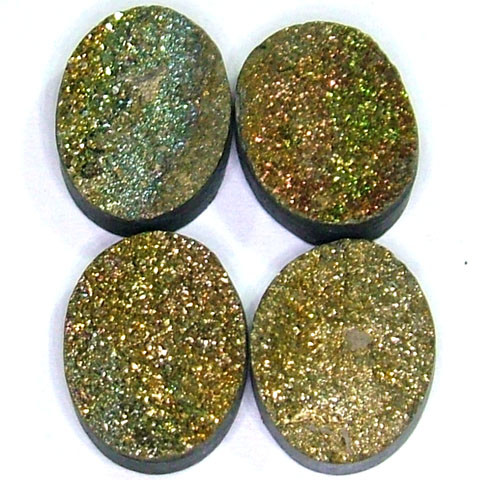 NATURAL DRUSY STONE (4PC SET) 33.50 CTS PG-742