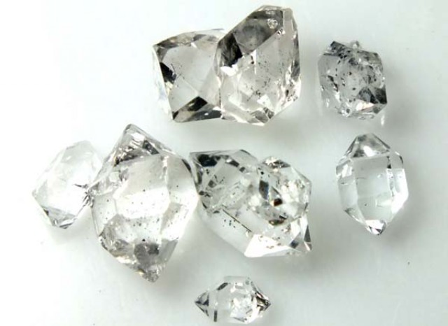 diamond gm quartz kavels crystals lot of herkimer
