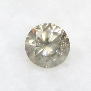 CERTIFIED 0.44ct 4.9mm Light Brown DIAMOND