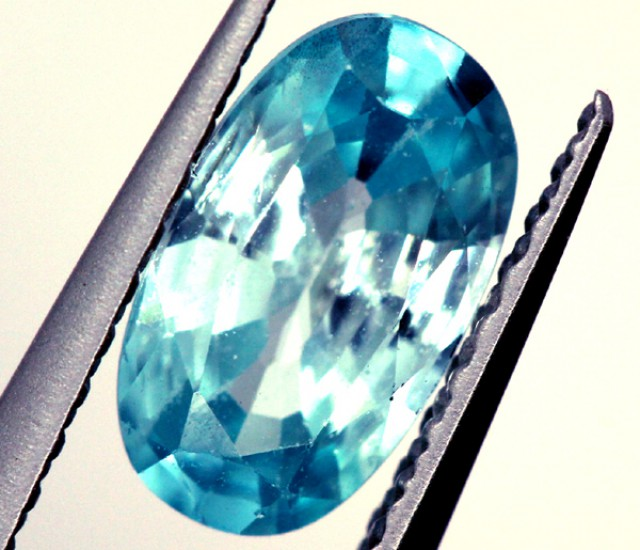 BLUE ZIRCON FACETED STONE 1.30 CTS   PG-1226