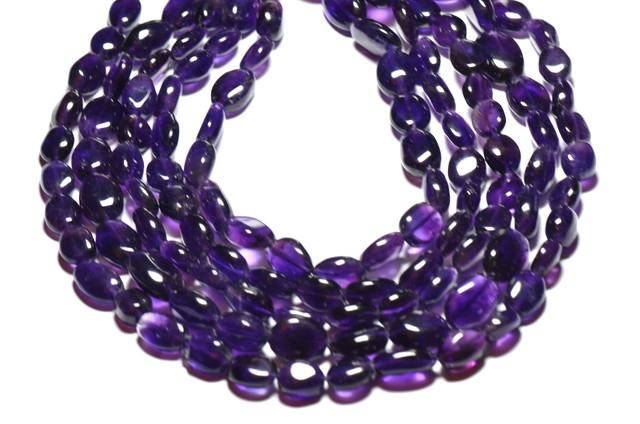 """10mm 13.5"""" line Amethyst smooth beads"""