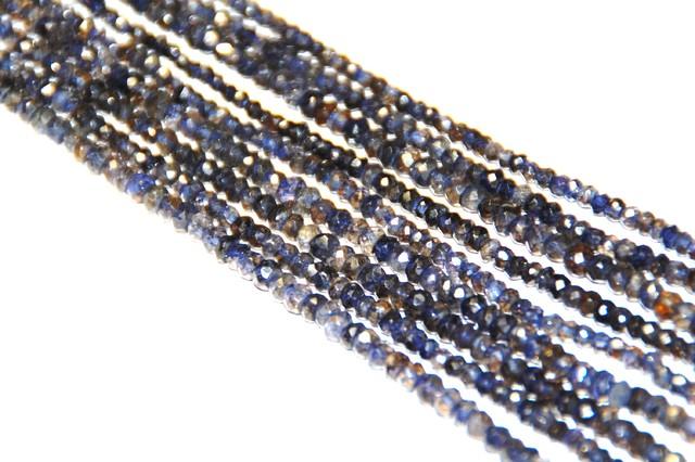 """13-14"""" line IOLITE Israeli beads 3.25mm"""