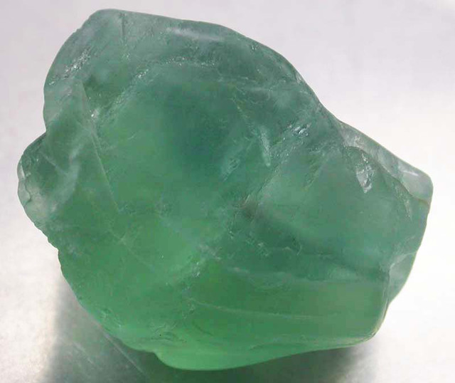 NATURAL LARGE  FLUORITE BEAD  -DRILLED 107.10 CTS [MX9777]