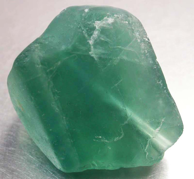 NATURAL LARGE  FLUORITE BEAD  -DRILLED 115.35 CTS [MX9785]