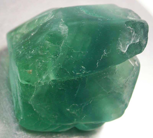 NATURAL LARGE  FLUORITE BEAD  -DRILLED 136.95 CTS [MX9786]
