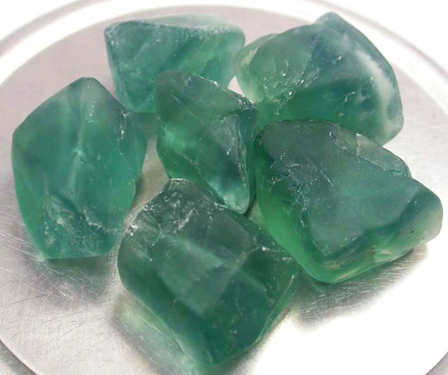 NATURAL FLUORITE BEADS PARCEL - DRILLED 304.40 CTS [MX9789]