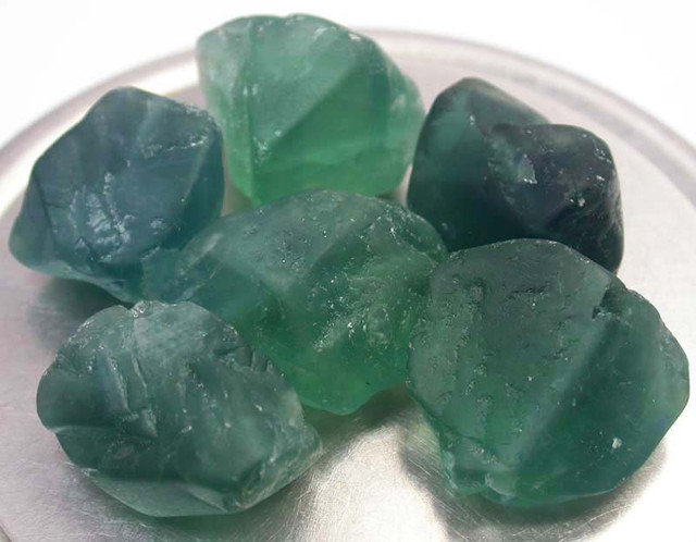 NATURAL FLUORITE BEADS PARCEL - DRILLED 349.40 CTS [MX9790]
