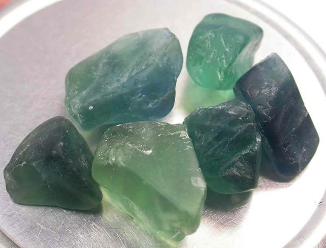 NATURAL FLUORITE BEADS PARCEL - DRILLED 254.60 CTS [MX9791]
