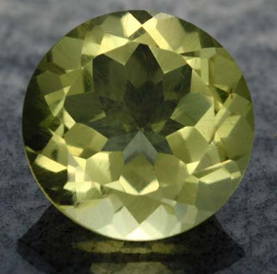 VS LEMON QUARTZ ROUND CUT  5.60  CTS [S608 ]