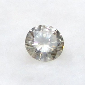0.25ct 4.2 mm VS Untreated Natural Light Brown DIAMOND