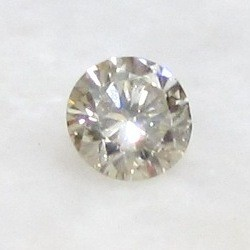 CERTIFIED 0.33ct 4.4mm Light Brown DIAMOND