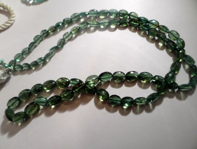 GAWK AT MY GEMS UNTREATED VS FOREST GREEN APATITE OVAL BEADS