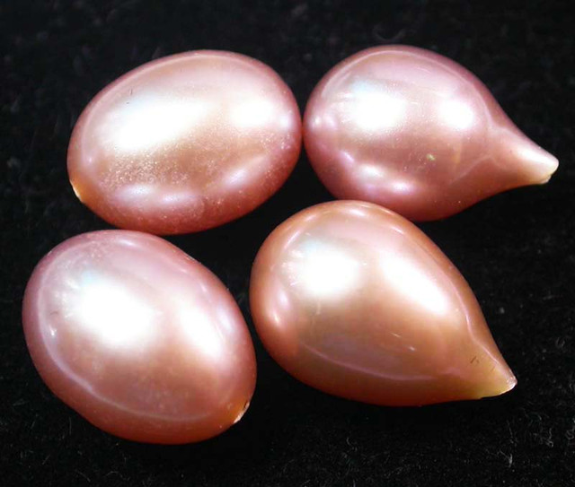 DRILLED PEAR SHAPED  PEARL PARCEL HIGH LUSTER-12 MM [PF2190]