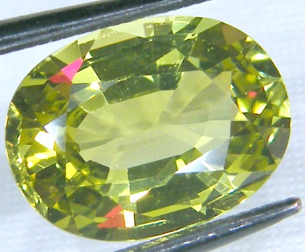 VVS1CHRYSOBERYL LEMON YELLOW COLLECTOR PC 4.38 CTS JM-19