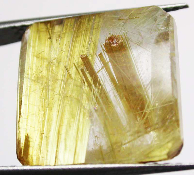 16.85 CTS GOLDEN RUTILATED QUARTZ 'STAR BURST'  [MX9978]