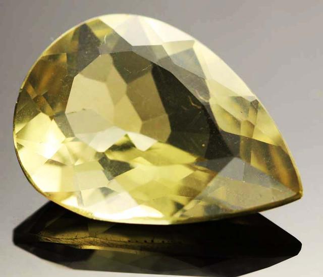 14.09 CTS VVS  LARGE -GOLD/YELLOW QUARTZ   [S6128]