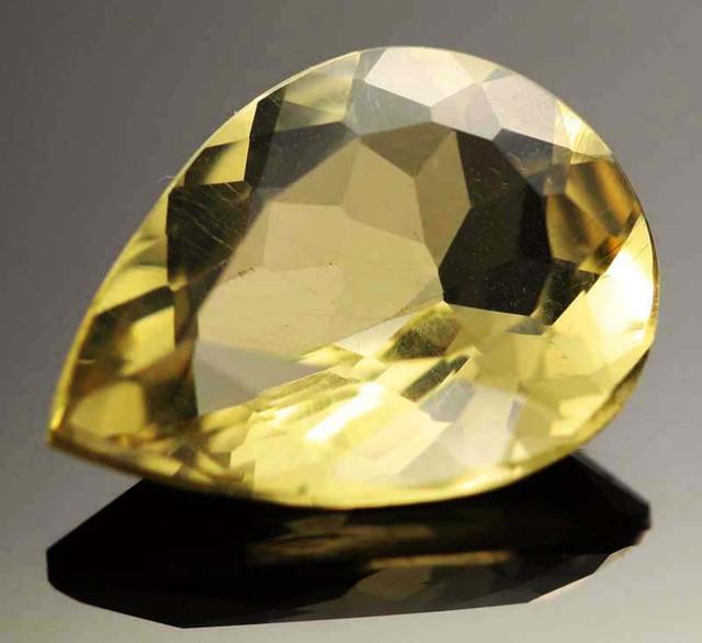 12.48 CTS VVS  LARGE -GOLD/YELLOW QUARTZ   [S6135]