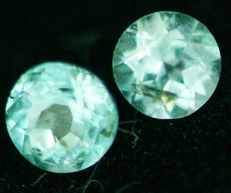 TWO PARABIA TOURMALINE STONES- MOZAMBIQUE 0.150 CTS [S5128 ]