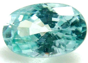 BLUE ZIRCON FACETED STONE 1.55 CTS  PG-1231
