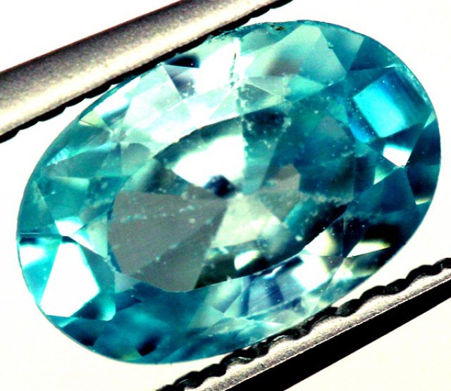 BLUE ZIRCON FACETED STONE 1.15 CTS   PG-1223
