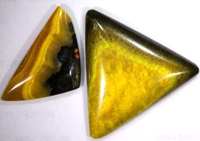 BUMBLEBEE JASPER CABS (2PC) 26.65 CTS PG-679