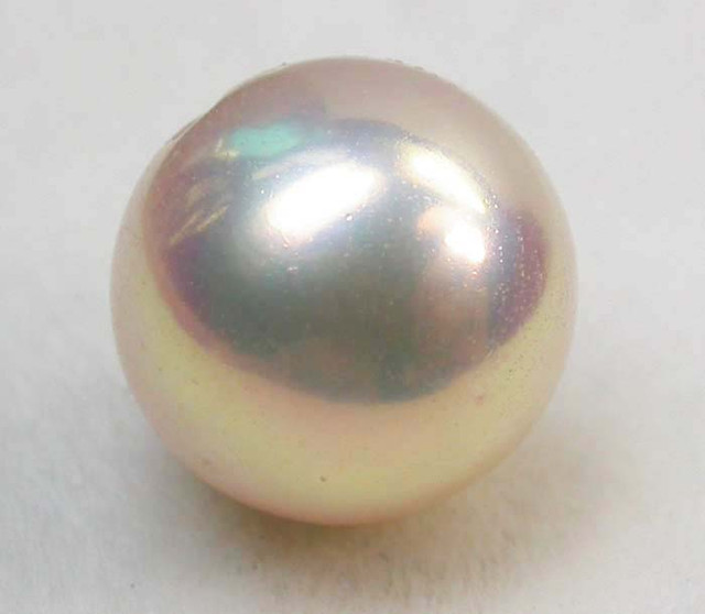 AAA GRADE ROUND PEARL  HIGH LUSTER- 9-10  MM [PF2244]