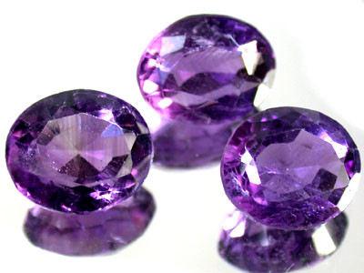PARCEL 3PCS AMETHYST FROM AFGHANISTAN 19.7 CTS GW 1148