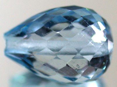 BLUE TOPAZ BEAD PEAR SHAPE 3.60 CTS  GW 1455