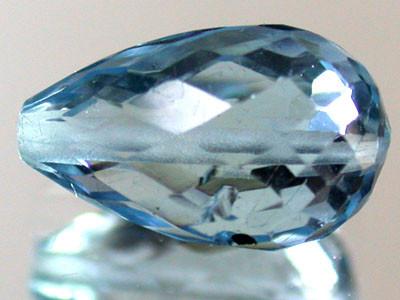 BLUE TOPAZ BEAD PEAR SHAPE 3.45 CTS  GW 1457