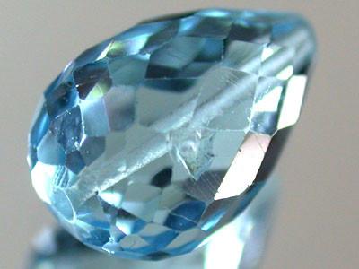 BLUE TOPAZ BEAD  PEAR SHAPE 4.20 CTS  GW 1471