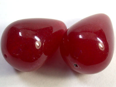 PAIR 2 PCS LARGE NATURAL QUARTZ BEADS 97.50 CARATS GW 1657