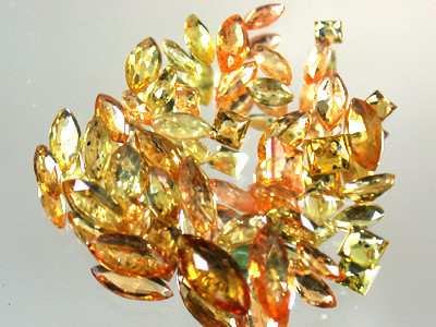 PARCEL FACETED YELLOW SAPPHIRES 6.40 CARATS GW 1671