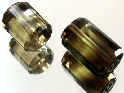 BI COLOUR BLACK & GOLD AMETERINE BEAD PARCEL 33 CTS GW 1809