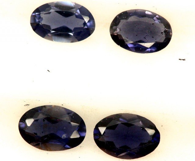 IOLITE FACETED STONE (4 PCS) 2 CTS  PG-1230