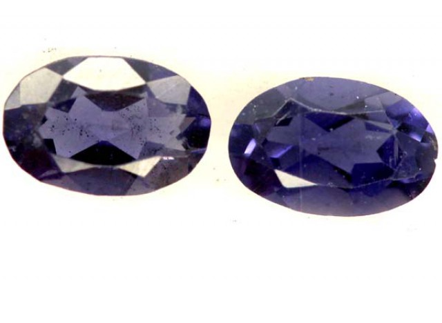 IOLITE FACETED STONE (2 PCS) 1 CTS PG-1376