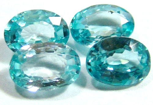BLUE ZIRCON FACETED STONE (4 PCS) 5 CTS   PG-1147
