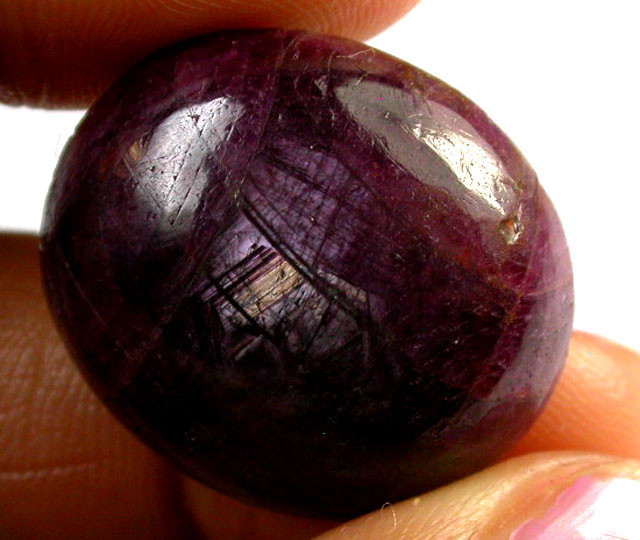HIGH CABOCHON LARGE LAOS SAPPHIRE  41 CTS RT 100