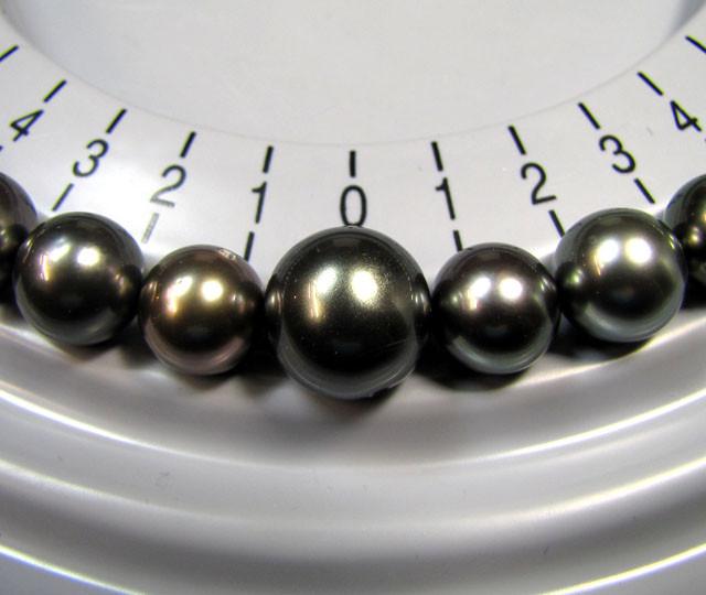EXCLUSIVE STRAND 35 TAHITIAN BLACK PEARL A GRADE TP1