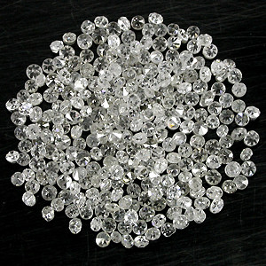 NATURAL WHITE DIAMONDS-1MM-1.5MM SIZE-50CTWLOT,LOWESTDEAL