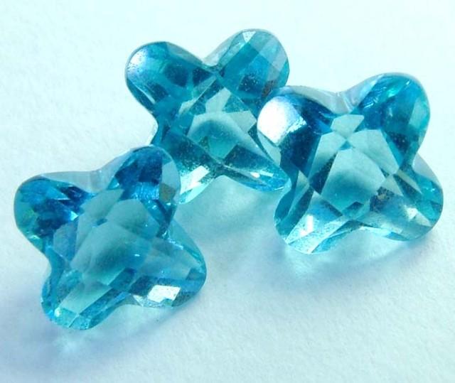 4 CTS SWISS BLUE TOPAZ FANCY CUT CG-2105