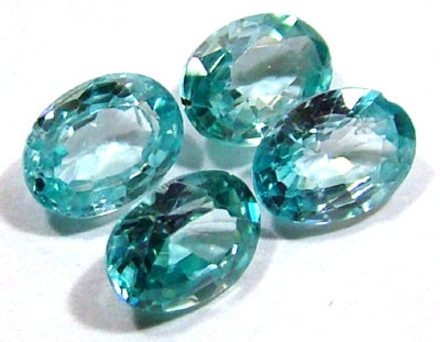 BLUE ZIRCON FACETED STONE (4 PCS) 4 CTS  PG-1349