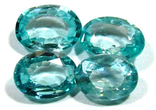 BLUE ZIRCON FACETED STONE (4 PCS) 4 CTS PG-1359
