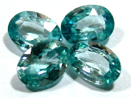BLUE ZIRCON FACETED STONE (4 PCS) 5 CTS  PG-1353