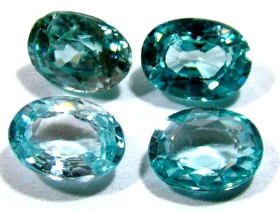 BLUE ZIRCON FACETED STONE (4 PCS) 5 CTS PG-1355