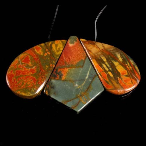 VERY NICE NATURAL PICASSO JASPER BEADS FOR PENDANT 160CTS