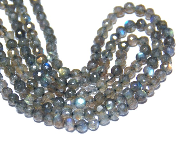 SALE from $50 AAA faceted LABRADORITE beads 5mm 14