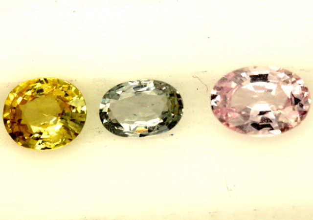 MULTI COLOURED SAPPHIRE FACETED(3PCS)2.50CTS PG-1398