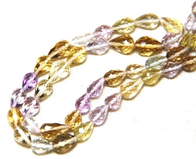 "SALE Multi-gem Amethyst beads 7 - 11mm 16"""