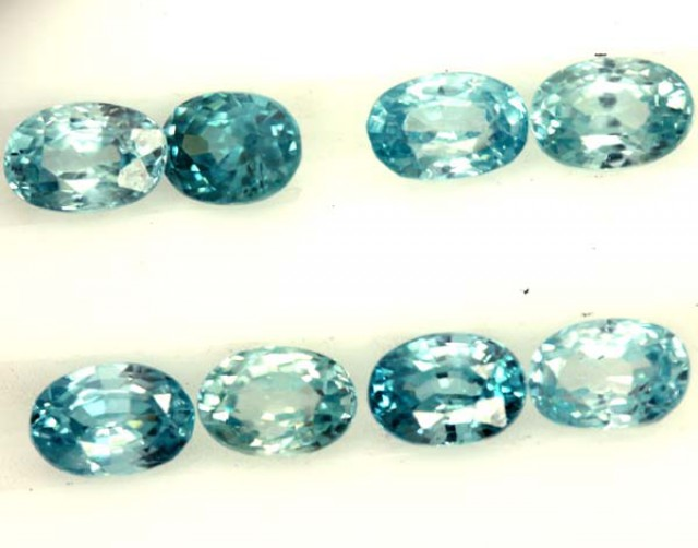 BLUE ZIRCON FACETED STONE (8 PCS) 8 CTS  PG-1389